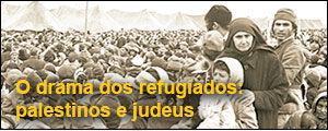 O drama dos refugiados: palestinos e judeus